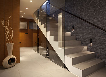 Glass Staircase Design in Miami-dade